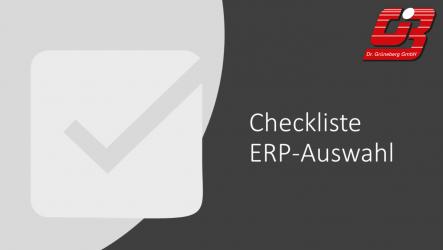 Checkliste ERP-Auswahl